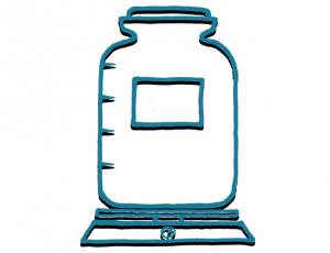 Ein leeres Gefäß zum Abfüllen der Einkäufe - Füllosophie unverpackt einkaufen